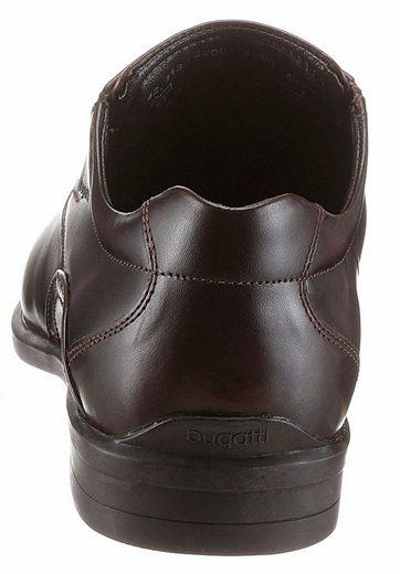 Bugatti Schnürschuh, mit seitlichen Gummizügen