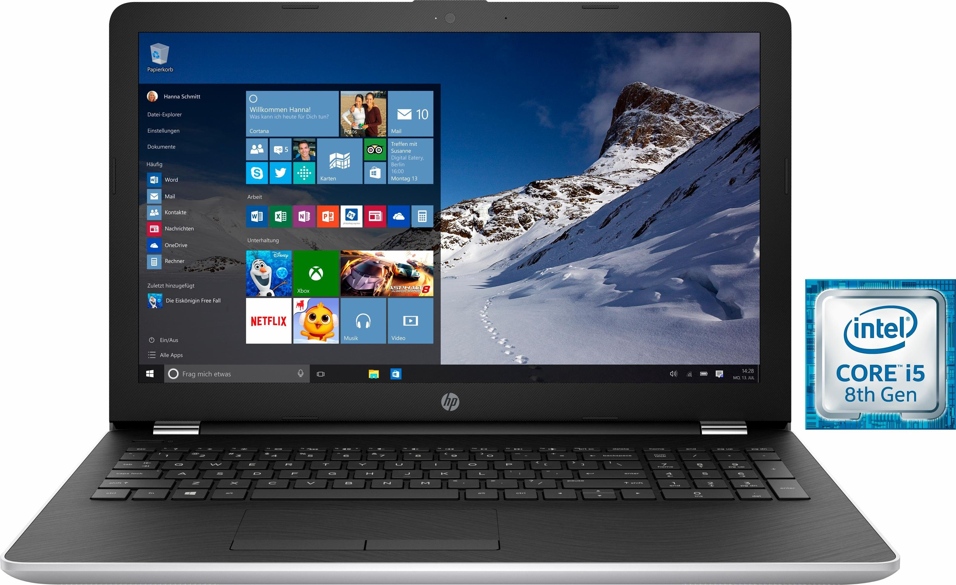 HP 15-bs108ng Notebook, Intel® Core™ i5, 39,6 cm (15,6 Zoll), 1128 GB Speicher, 8192 MB DDR4-SDRAM