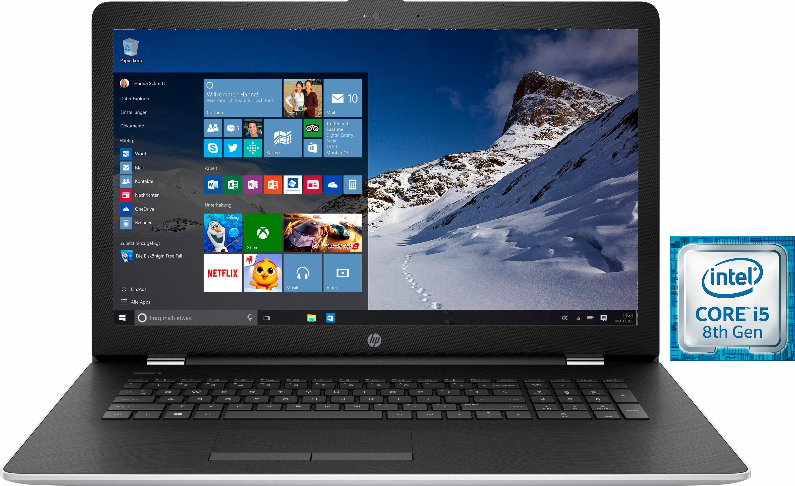 HP 17-bs102ng Notebook, Intel® Core™ i5, 43,9 cm (17,3 Zoll), 1128 GB Speicher, 8192 MB DDR4-SDRAM