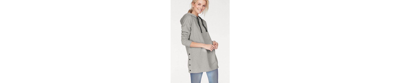 GREYSTONE Sweatshirt, Seitennaht mit Knopfleiste und Druckknöpfen