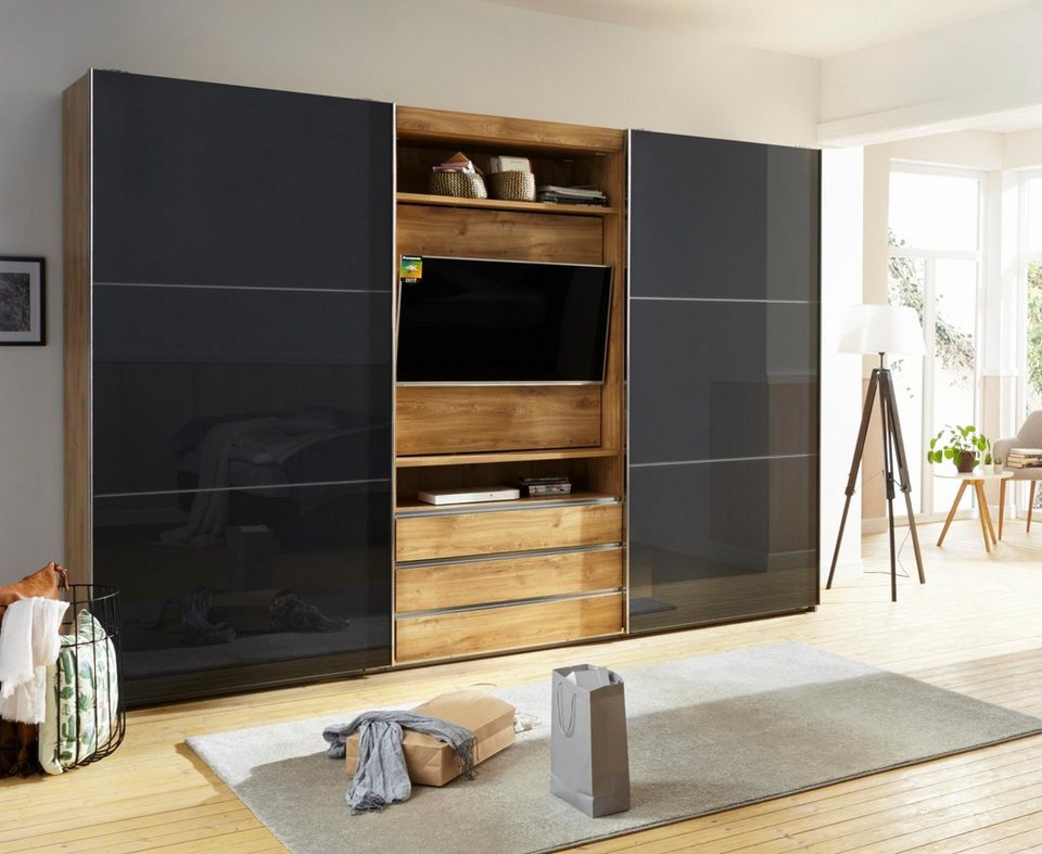 fresh to go schwebet renschrank magic mit drehbaren tv. Black Bedroom Furniture Sets. Home Design Ideas