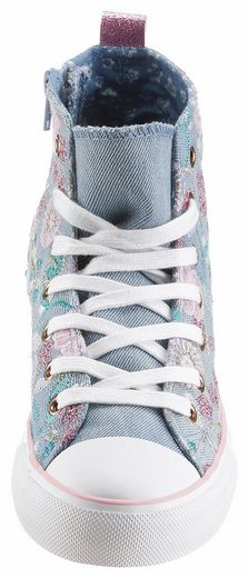 Arizona Sneaker, With Flower-embroidery