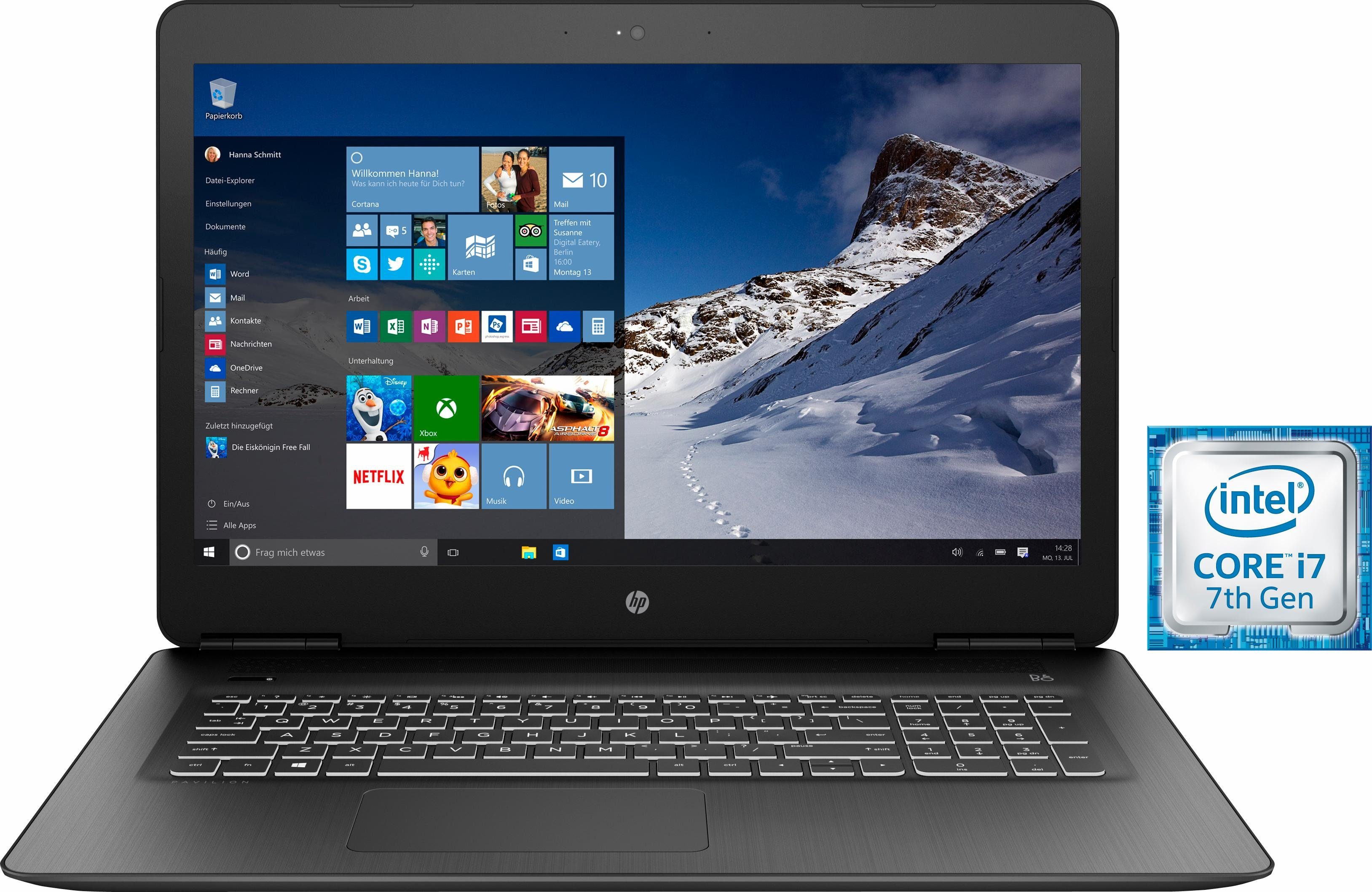 HP 17-ab309ng Notebook, Intel® Core™ i7, 43,9 cm (17,3 Zoll), 1128 GB Speicher, 16384 MB DDR4-SDRAM