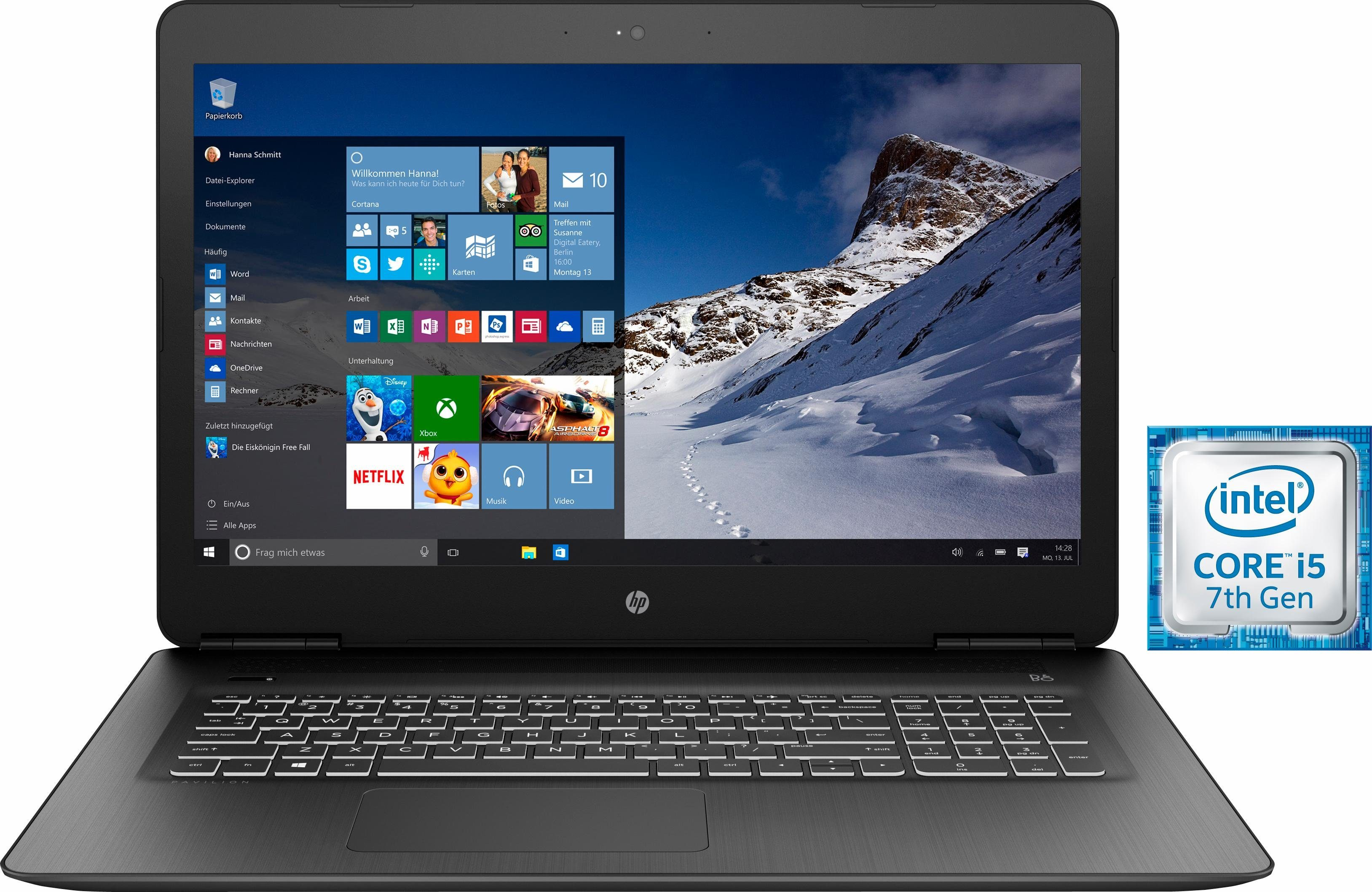 HP 17-ab314ng Notebook, Intel® Core™ i5, 43,9 cm (17,3 Zoll), 1128 GB Speicher, 12288 MB DDR4-SDRAM