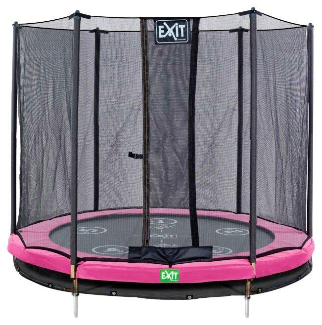 exit trampolin twist ground rosa grau 427 cm online. Black Bedroom Furniture Sets. Home Design Ideas