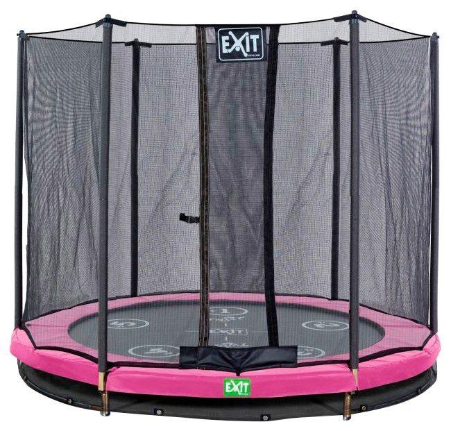 exit trampolin twist ground rosa grau 305 cm online. Black Bedroom Furniture Sets. Home Design Ideas