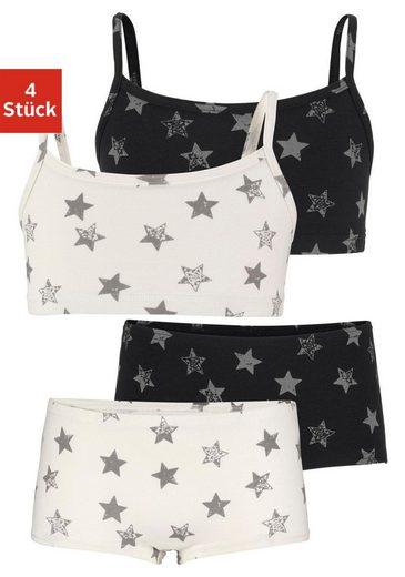 Arizona Set: Bustier (4-tlg) mit Panty mit Sternendruck