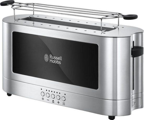 RUSSELL HOBBS Toaster Elegance 23380-56, 1 langer Schlitz, 1420 W, Glasdesign und Edelstahl