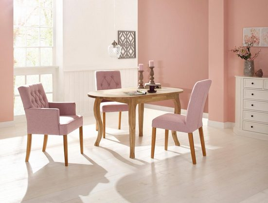 Premium collection by Home affaire Esstisch »Felix«, mit ovaler Tischplatte und klassisch geschwungenen Beinen