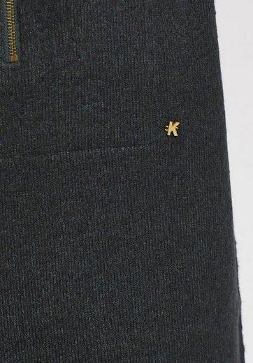 khujo Strickkleid LYKKE, mit eingearbeitetem Inlay