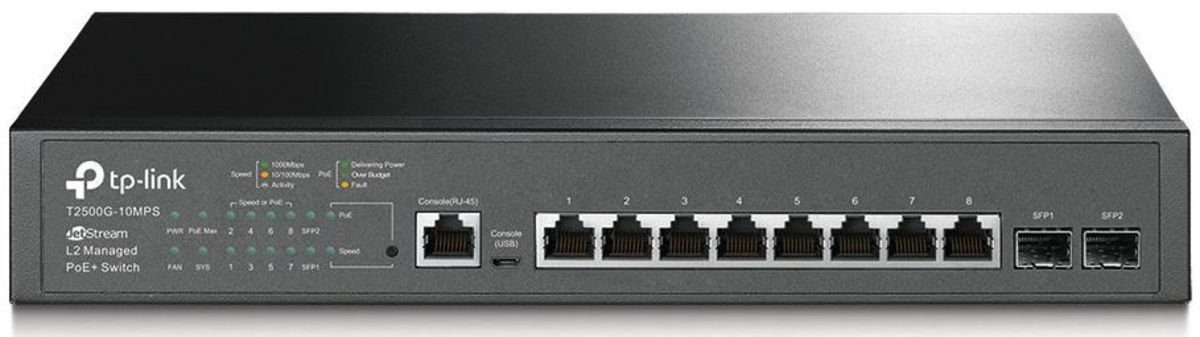TP-Link Switch »T2500G-10MPS 8-Port Gigabit L2 Managed«