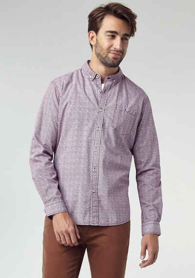 PIONEER Gemustertes Langarmhemd