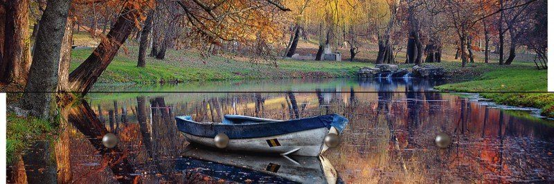 Artland Wandgarderobe »Christian Lancu: Bunte Herbstlandschaft«