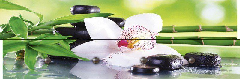 Artland Wandgarderobe »Africa Studio: Spa Steine Bambus weiße Orchidee«