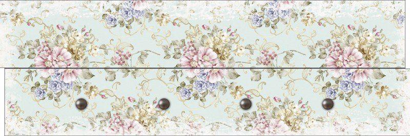 Artland Wandgarderobe »Botanik Blumen Rose Malerei Pink/Rosa«