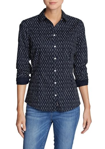 Eddie Bauer Crease-resistant Blouse - Long Sleeve - Patterned