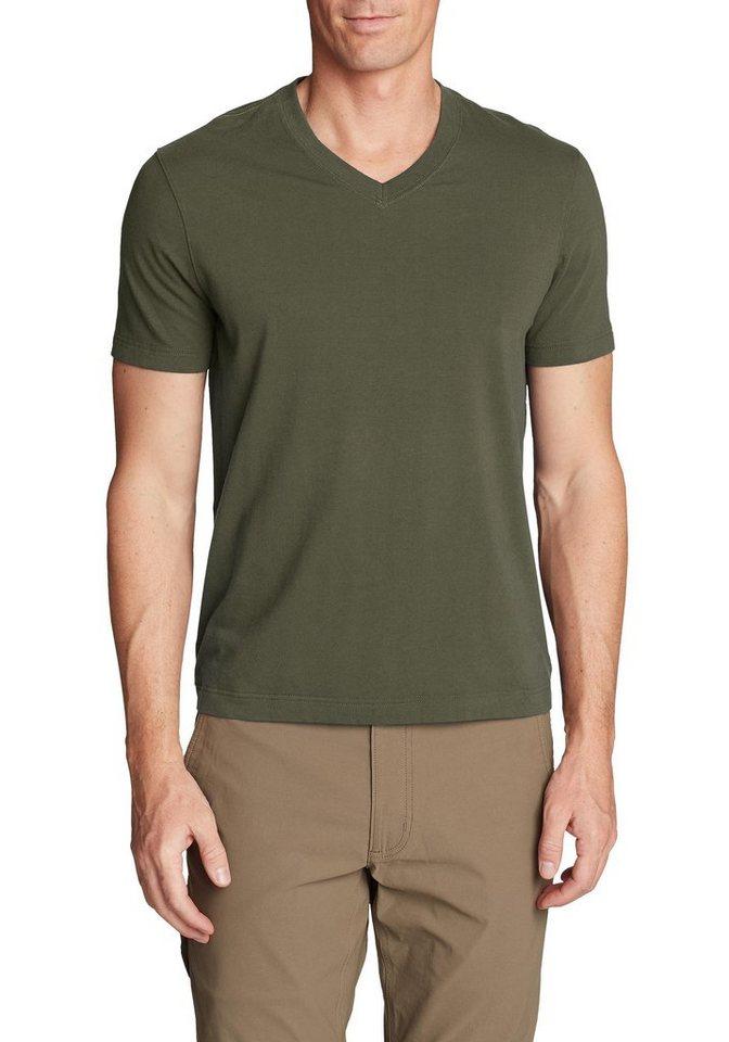 eddie bauer -  T-Shirt Lookout T-Shirt - Kurzarm mit V-Ausschnitt