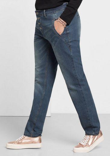Sheego Denim Stretch-jeans, Used Effekte