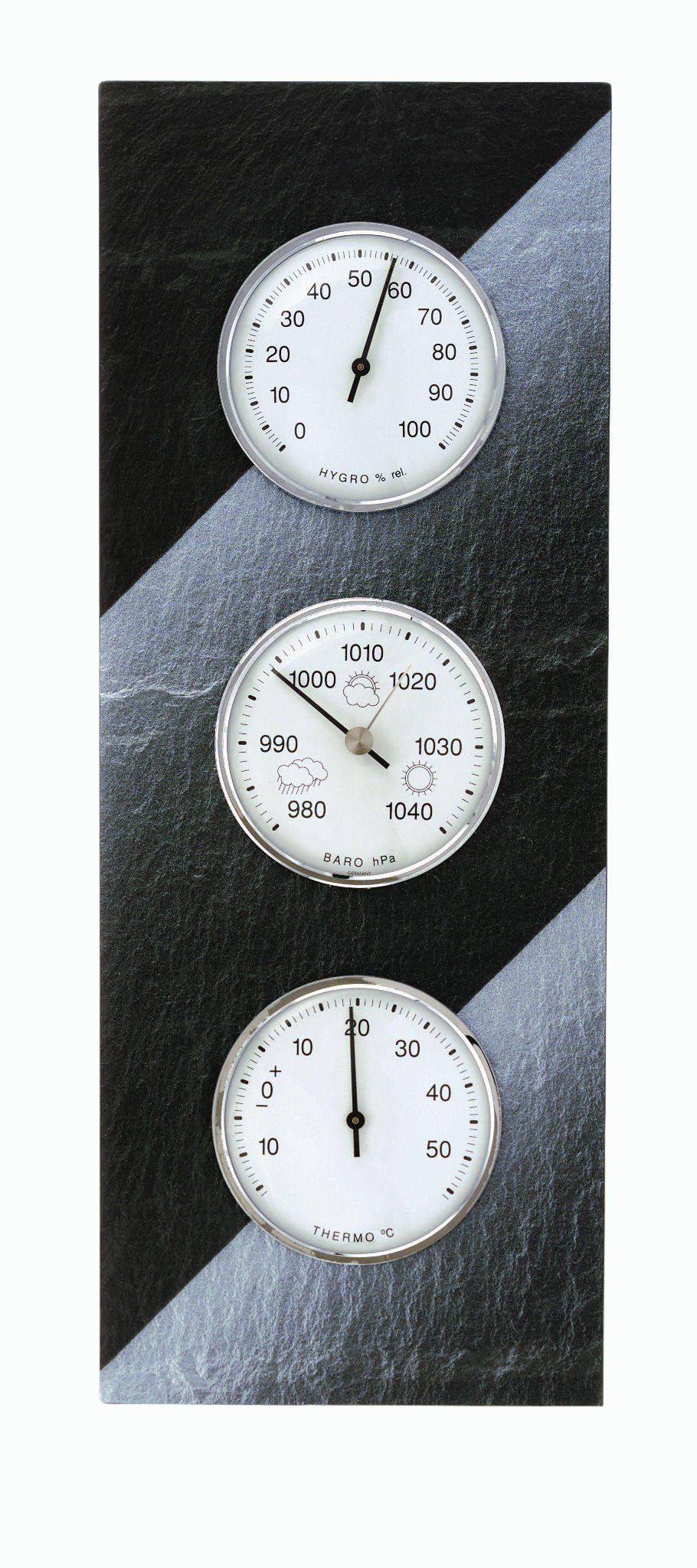 TFA Dostmann Analoge Wetterstation aus Schiefer