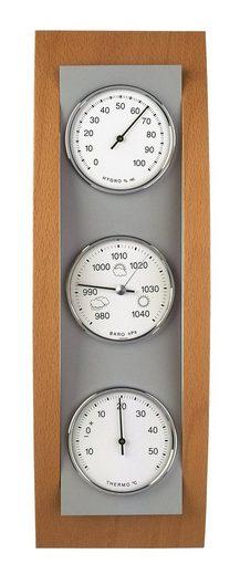 TFA Dostmann Analoge Wetterstation aus Aluminium und Holz