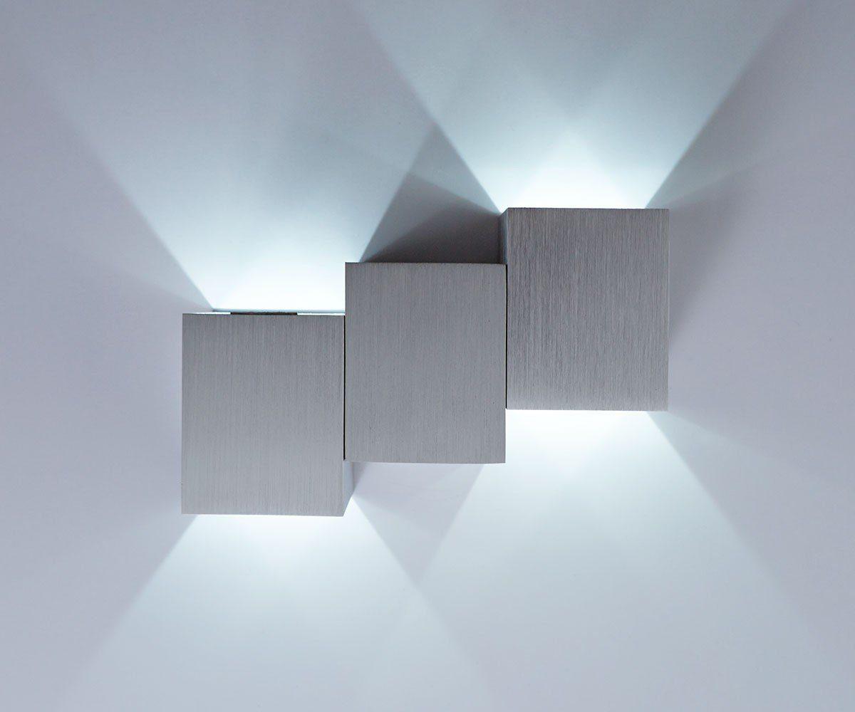 DELIFE Wandleuchte Miray Aluminium Gebürstet Silber 2Watt