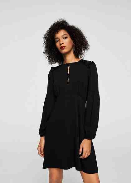 MANGO Kleid mit Volant-Details