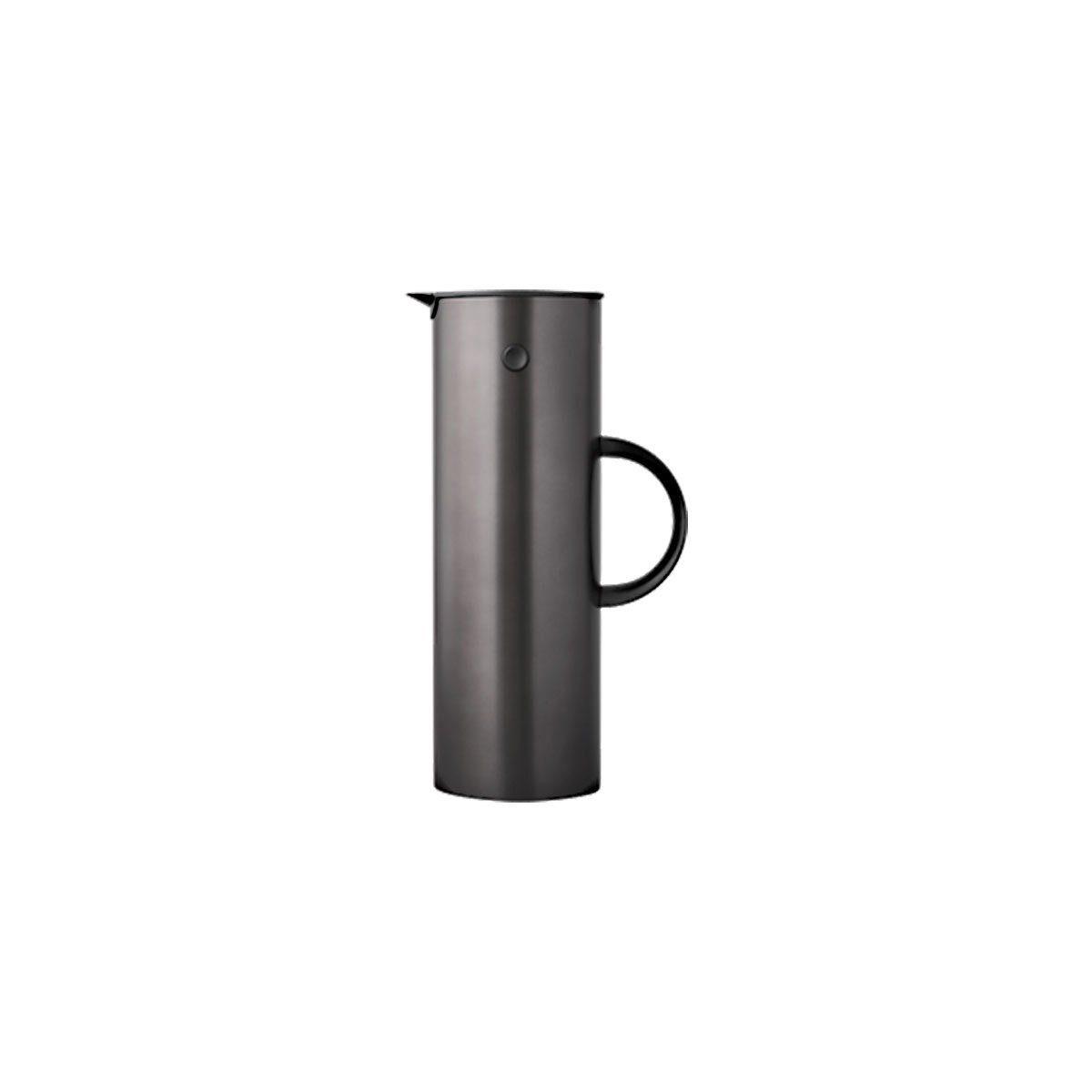 Stelton Stelton EM77 Stahl-Isolierkanne 1L, metallic schwarz