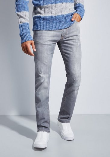 Otto Kern Destroyed Authentic Stretch Jeans John - Straight Fit