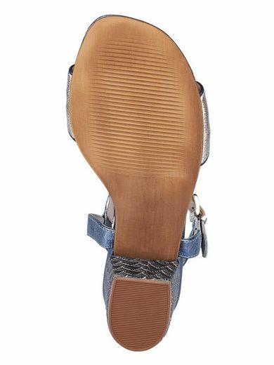 XYXYX Sandalette im Metallic-Look