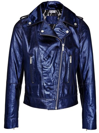 Rick Cardona By Heine Leather Jacket, Goat Suede Gloss Coating