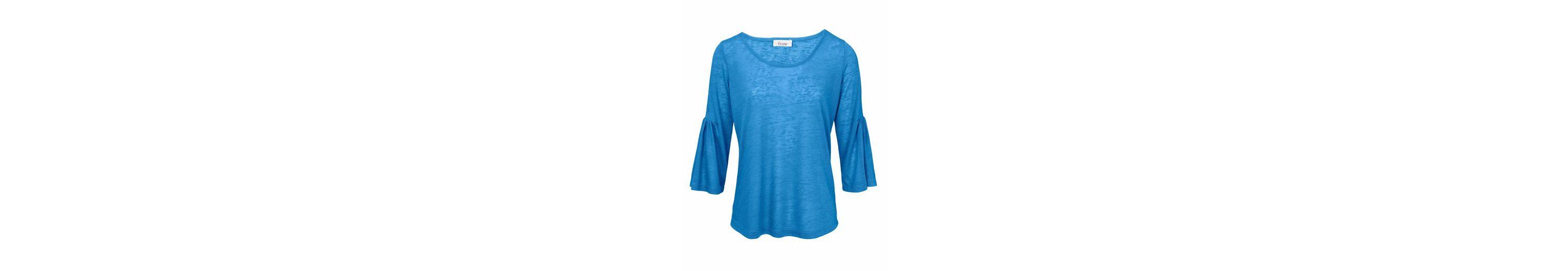 Kaufen Angebot Billig Einkaufen LINEA TESINI by Heine Shirt mit Volant Freies Verschiffen Günstig Online sRO68