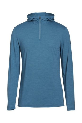 Super.Natural Merino Longsleeve M BASE HOODED 1/4 ZIP TOP 175