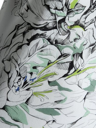 Mocca by J.L. Kurzarmpullover mit Blütendruck