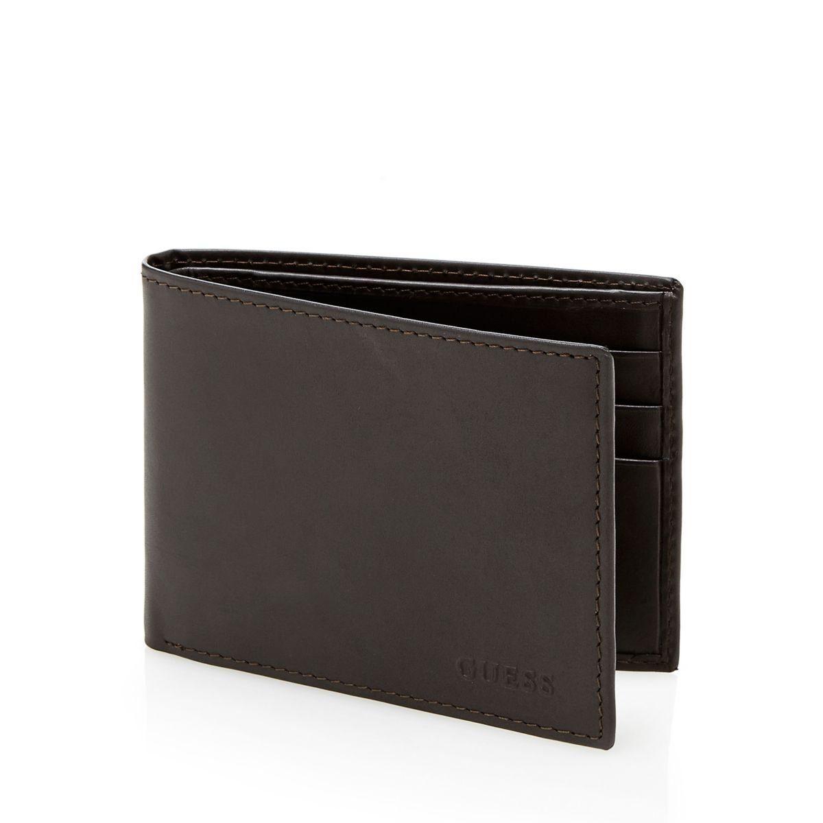 Guess Wallets BLACK BASIC FLAT BILLFOLD