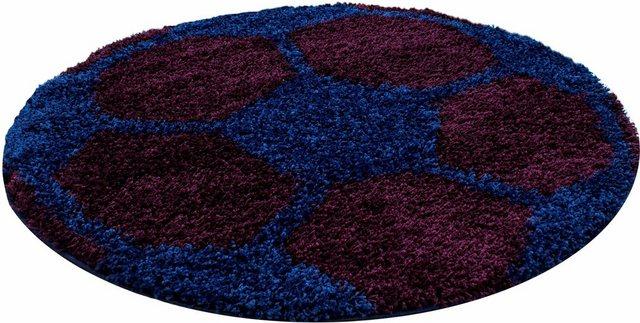 Kinderteppich »Fun 6001«, Ayyildiz, rund, Höhe 30 mm, Fußball Design | Kinderzimmer > Textilien für Kinder > Kinderteppiche | Blau | Ayyildiz