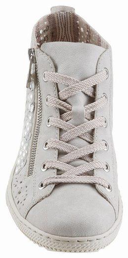 Rieker Sneaker, mit angesagten Perlen verziert