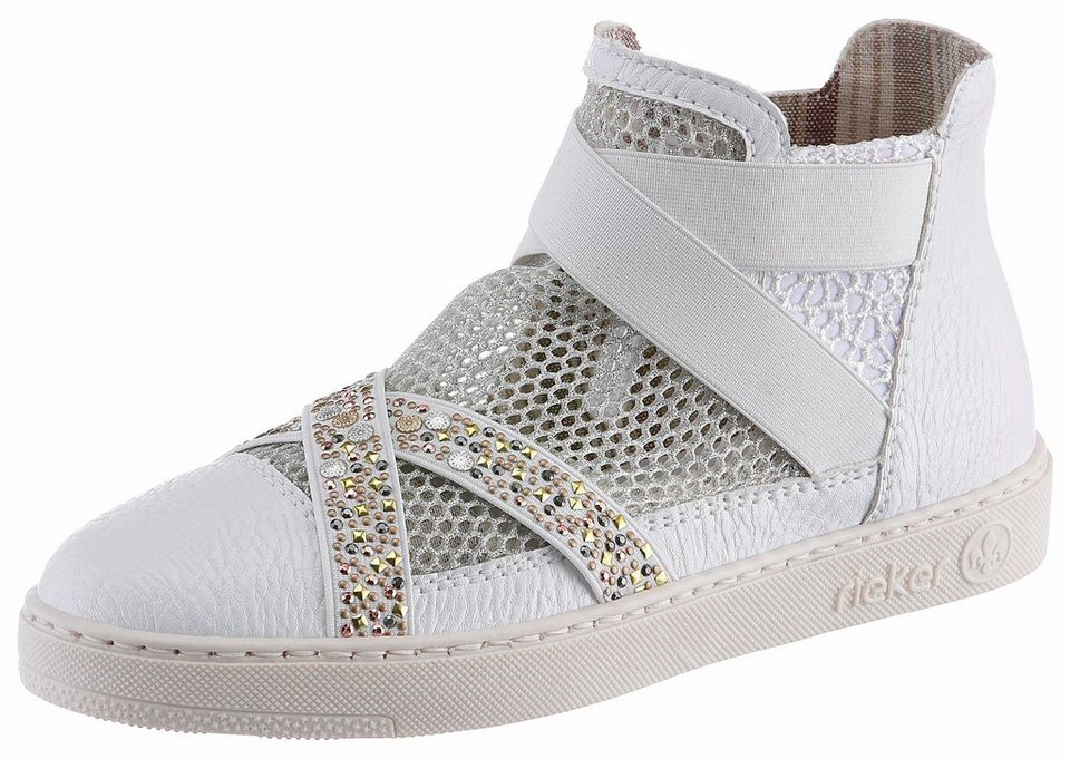 df4e88a1ea905f Rieker Sneaker mit Schmucksteinchen verziert