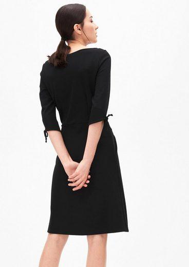 s.Oliver BLACK LABEL Jerseykleid mit Schleifen-Details