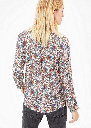 S.oliver Red Label Tunika Mit Floralem Allover-print