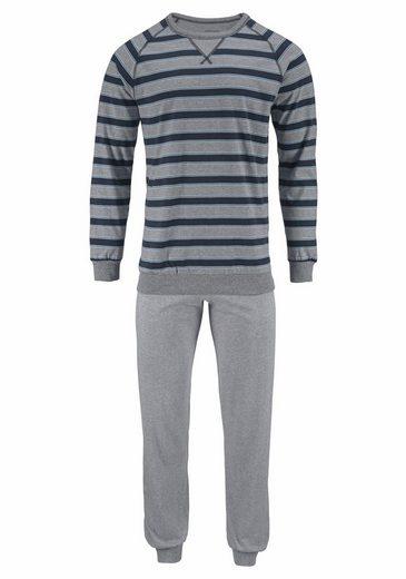 seidensticker Pyjama, in langer Form mit Blockstreifen