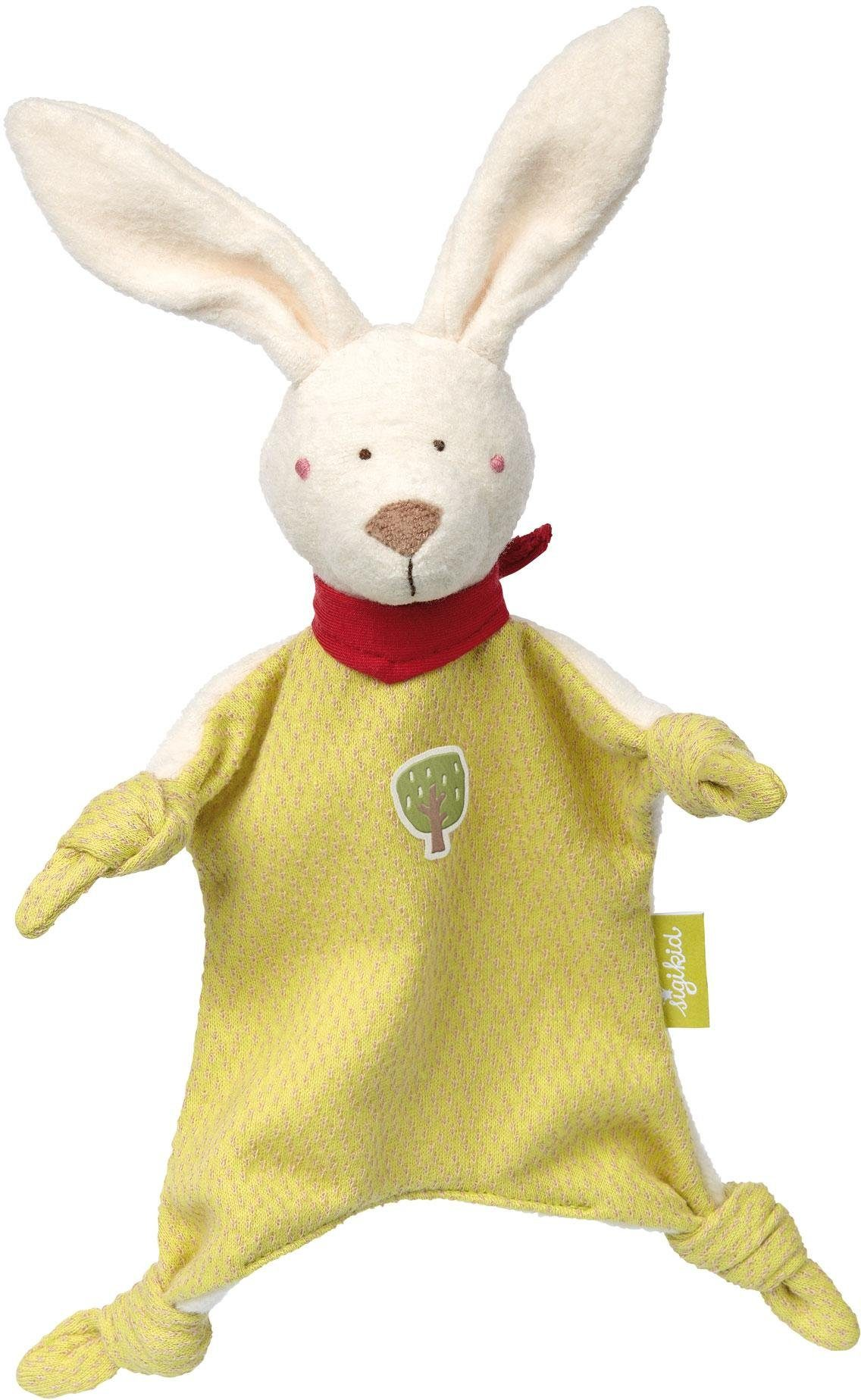 sigikid® Schnuffeltuch, »Hase klein, Green Collection«