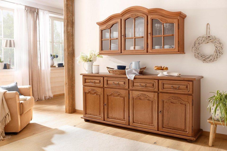 home affaire h ngevitrine hans breite 138 cm im rustikalen landhausstil online kaufen otto. Black Bedroom Furniture Sets. Home Design Ideas