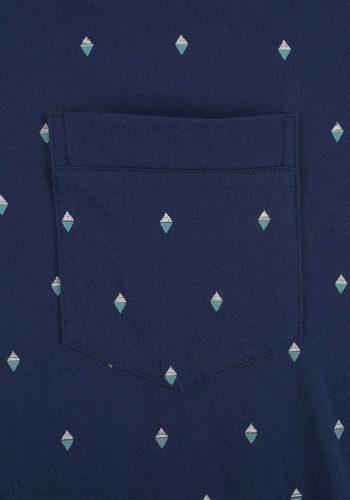 Herren Seidensticker Herren Nachthemd 1/2 mit Krawattendruck blau   04047067431060