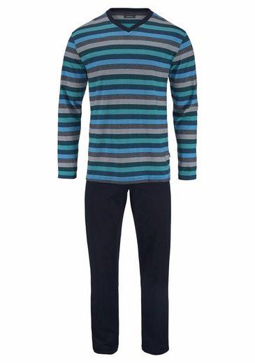 Ammann Pyjama, in langer Form mit Streifen