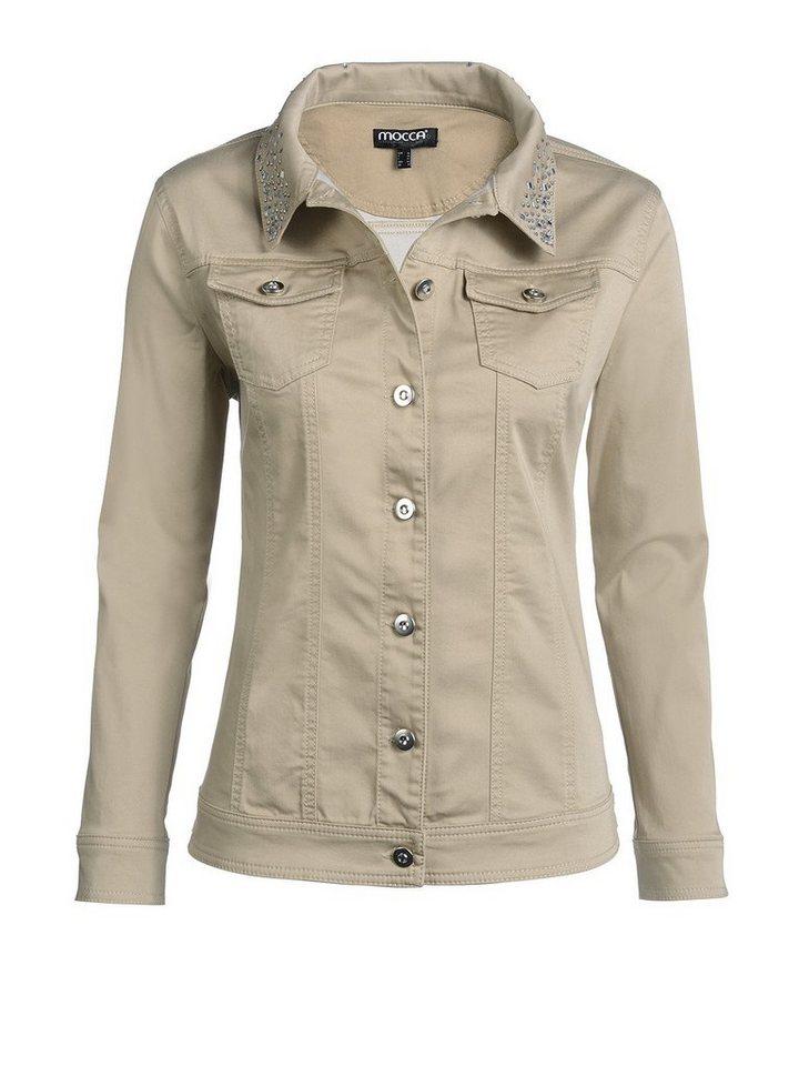 Jeansjacke in beige
