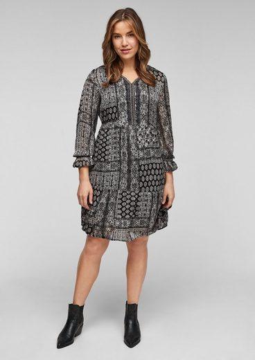 TRIANGLE Minikleid »Kleid kurz« Volants, Glitzer, Rüschen
