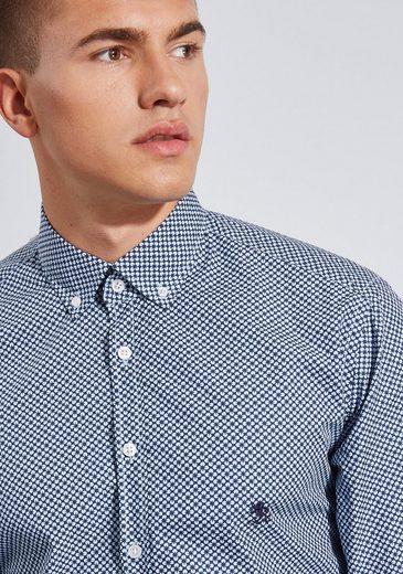 Otto Kern Hemd mit Minimalprint - Modern Fit