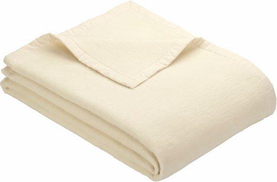 Wohndecke »Solare Organic Cotton«, IBENA, unifarben