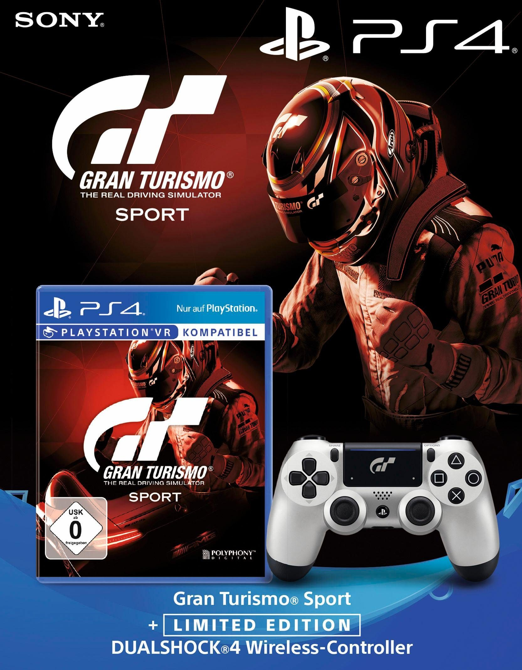 PlayStation 4 (PS4) Gran Tourismo Sport + Wireless Dualshock Controller Gran Tourismo Sport