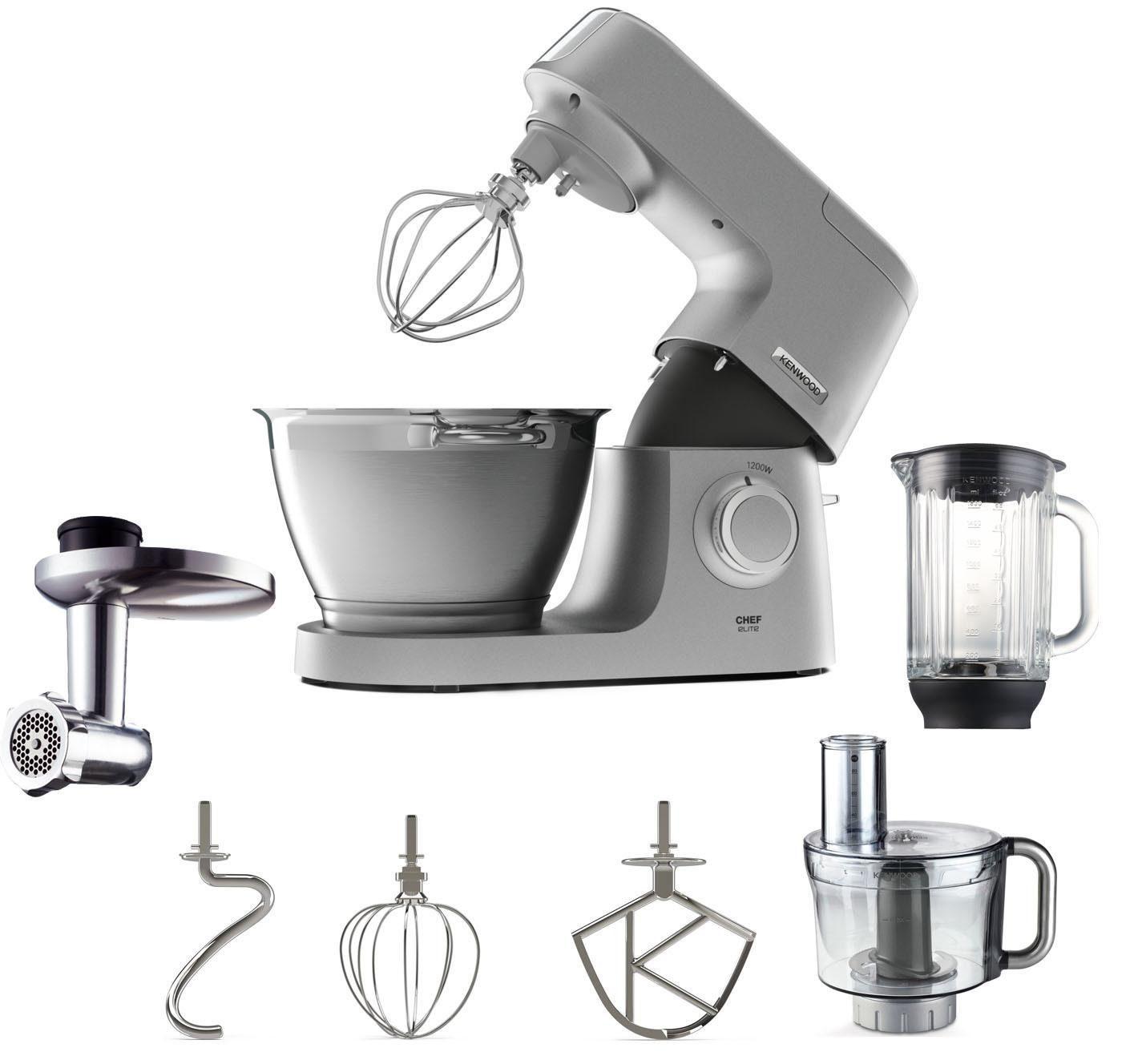 KENWOOD Küchenmaschine Chef Elite KVC5401S, 1200 W, 4,6 l Schüssel, inkl. Zubehör im Wert von UVP € 229,98